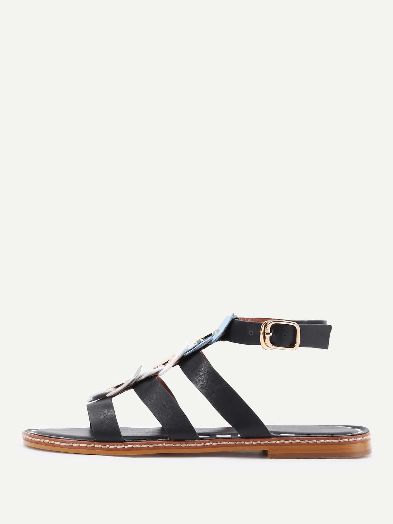 flasche sandalen mit blumen. Black Bedroom Furniture Sets. Home Design Ideas