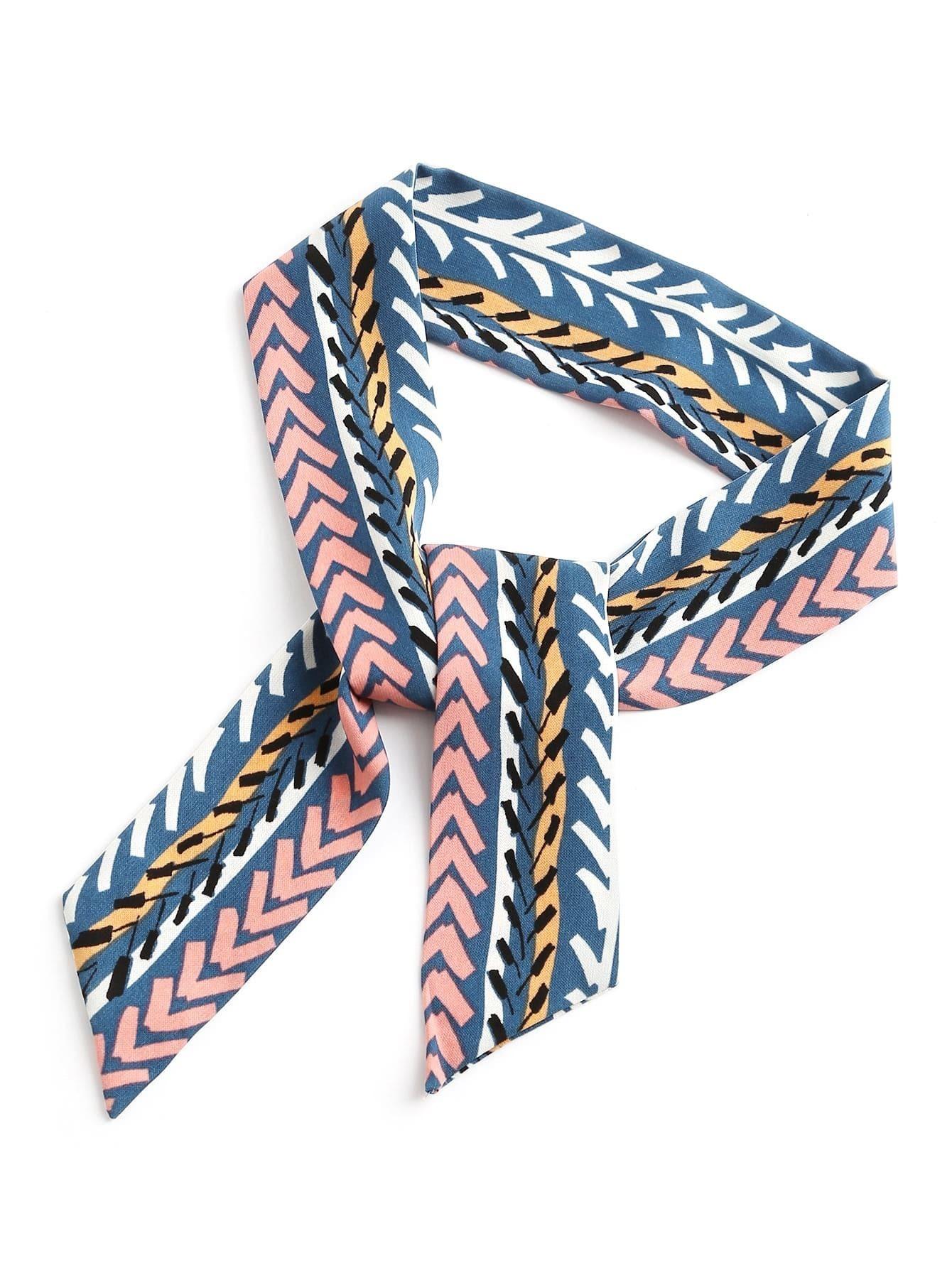 chevron pattern twilly scarf