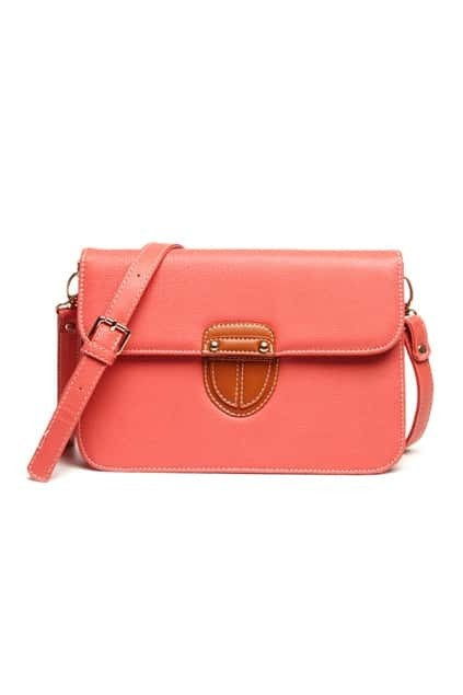 Retro Sutured Watermelon Red Shoulder Bag