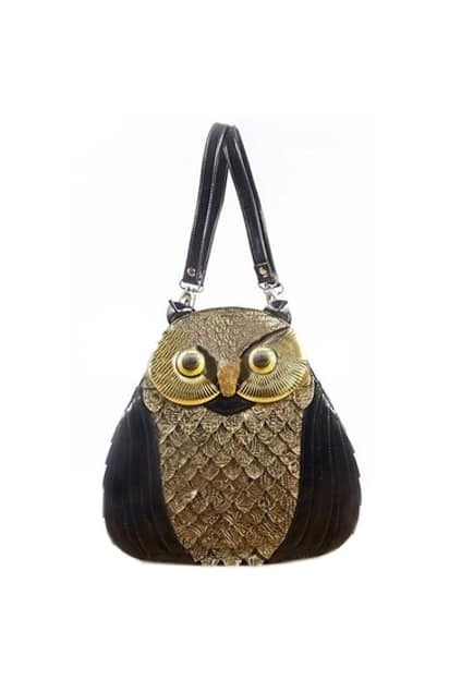 Owl Black Hand Bag
