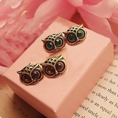 Retro European Owl Earrings