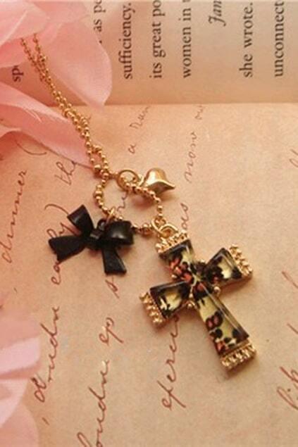 Leopard Cross Necklace