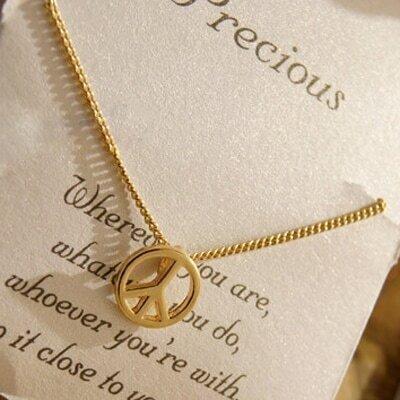 Anti-war Sign Wishing Necklace