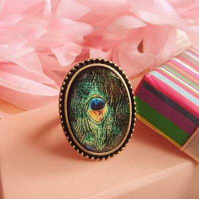 Peacock Pattern Ring