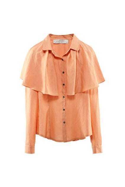 Detachable Cape Orange Shirt