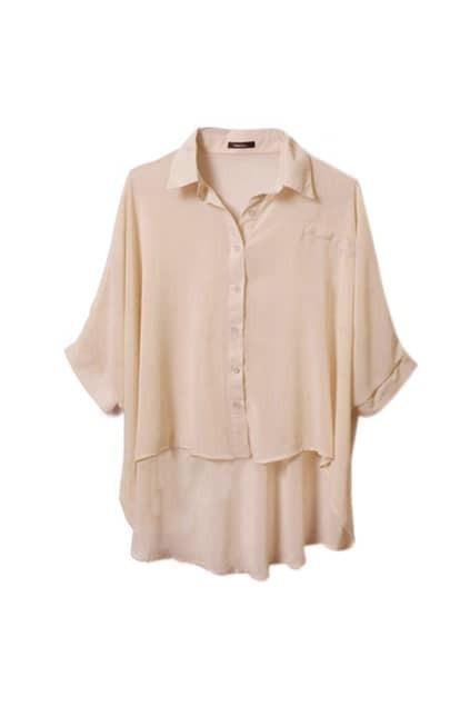 Soft Pink Design Chiffon Shirt