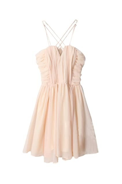 Romantic Nude Pink Tank Dress