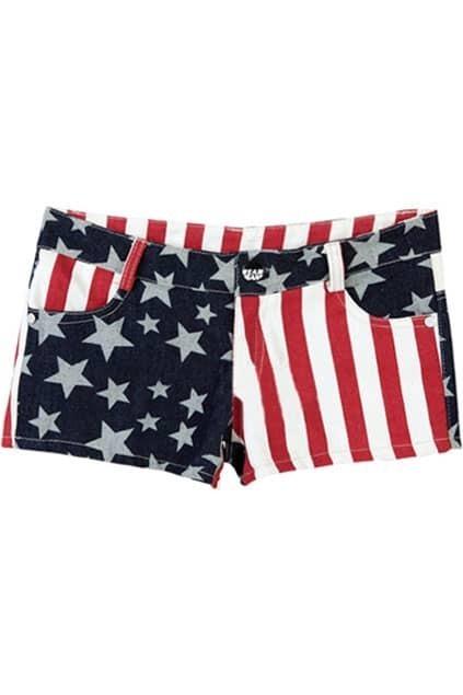 National Flag Denim Shorts
