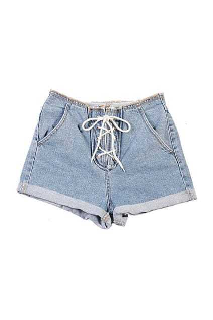 High Waist Street Style Denim Shorts