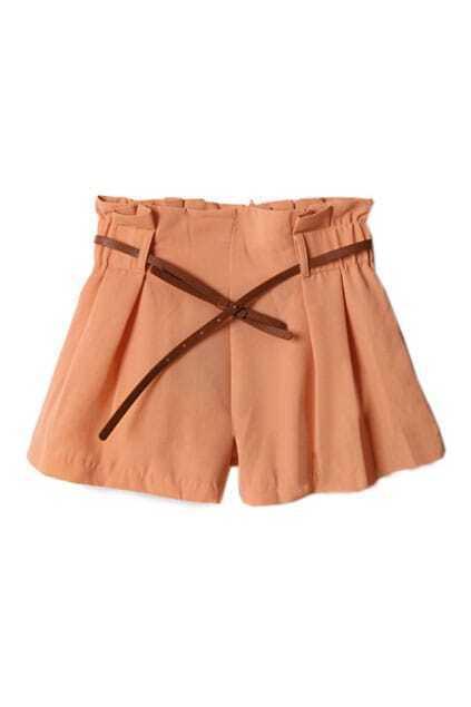 bowknot Strap Orange Short Pants