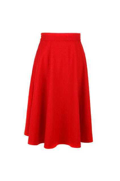 Charming Falbala Red Long Skirt