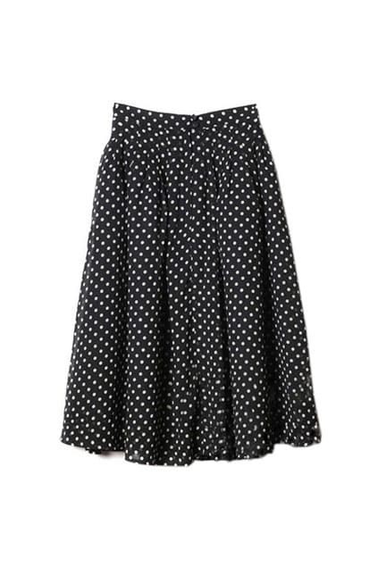France Knee Length Bubble Dot Skirt