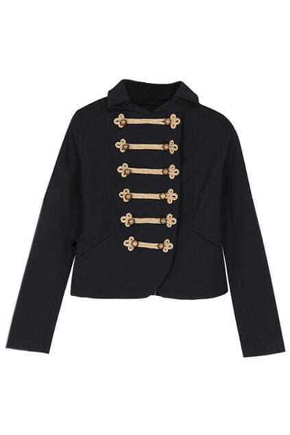 Golden Button Knight Short Pattern Coat