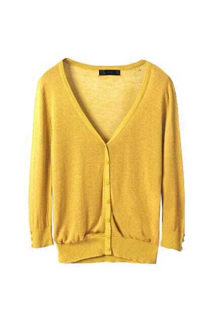 Sun-shade Sunscreen Yellow Knitted Cardigan
