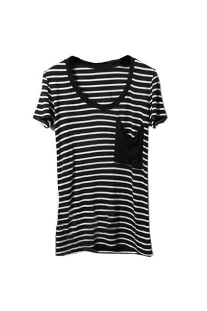Classic Black And White Stripe T-shirt