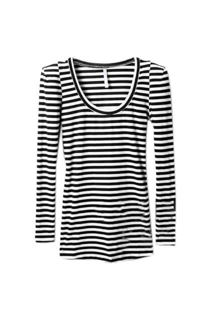 Classic Stripe Medium Sleeve T-shirt