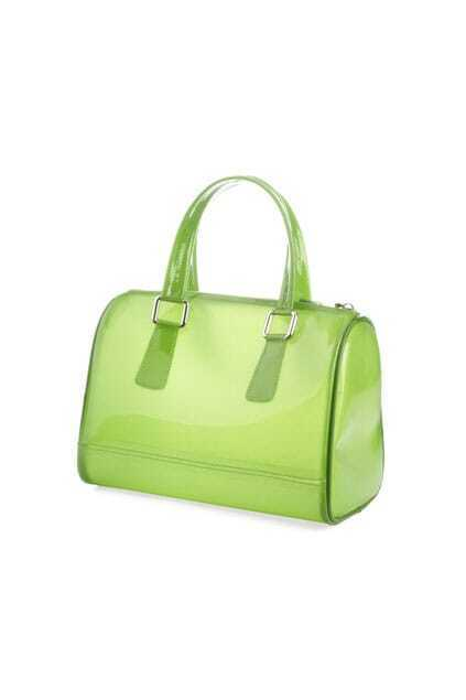 Candy Color Transparent Green Handbag
