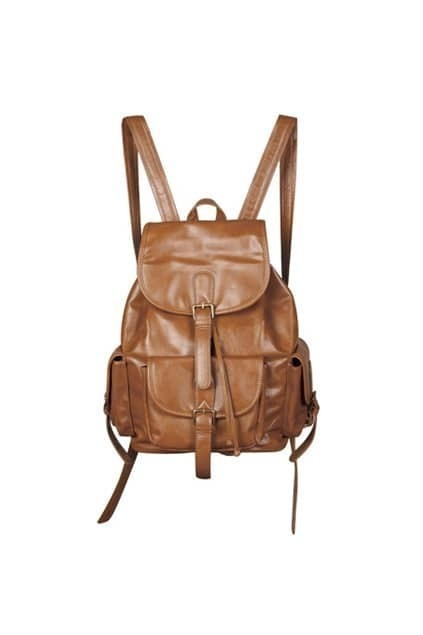 Retro Preppy Style Drawstring Brown Bag