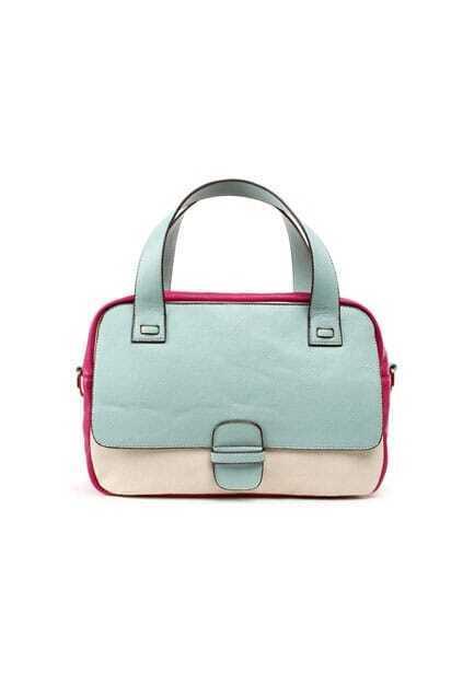 Retro Mixed-colour Montage Blue Subtle-life Bag