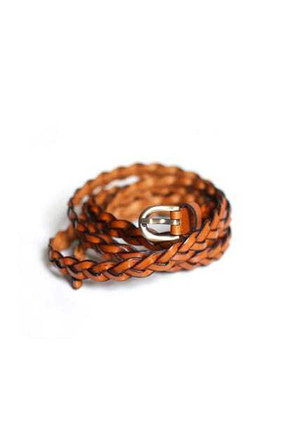 Brief Style Braided Leathery Belt
