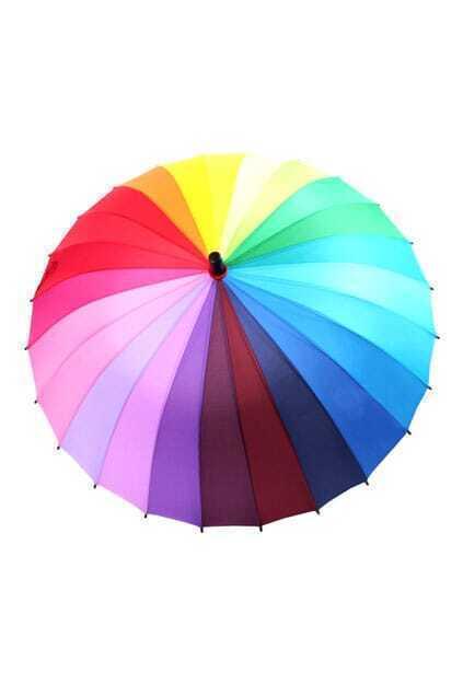 Rainbow Straight Umbrella