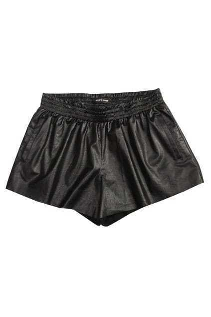Rock Style Thin Black Shorts