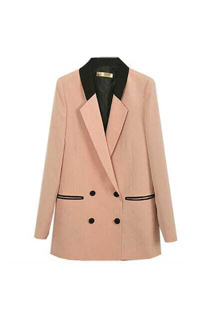 Double Ranks Buttons Slim Pink Suit
