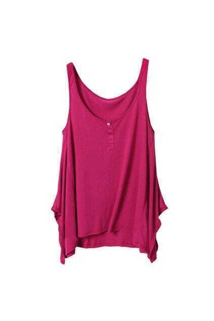 Anomalous Hem Rose Vest