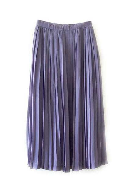 Pleated Dark Purple Skirt