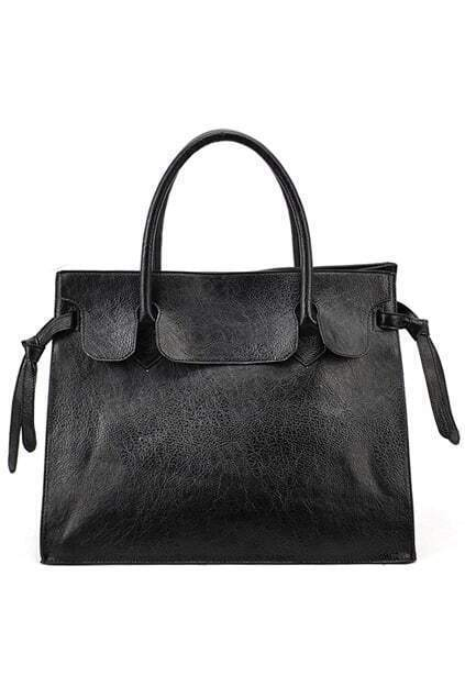 Chic Style Black Bat Bag