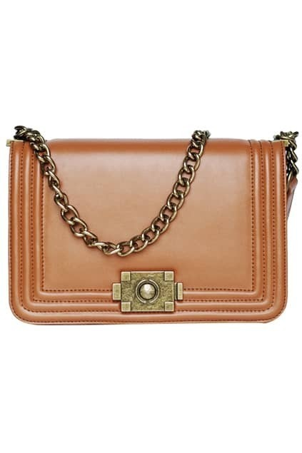 Retro Chain Brown Bag