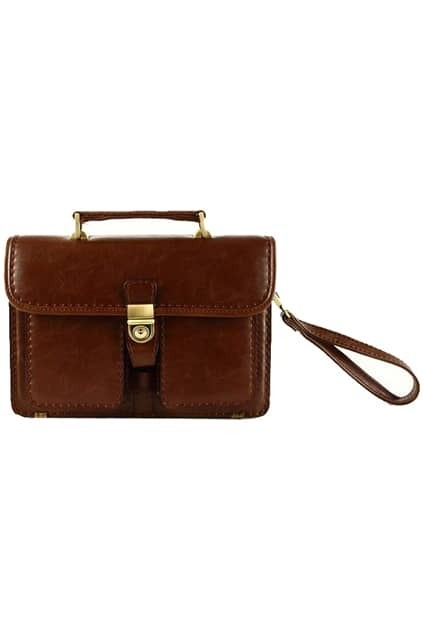 Retro Style Dark Coffee Satchel