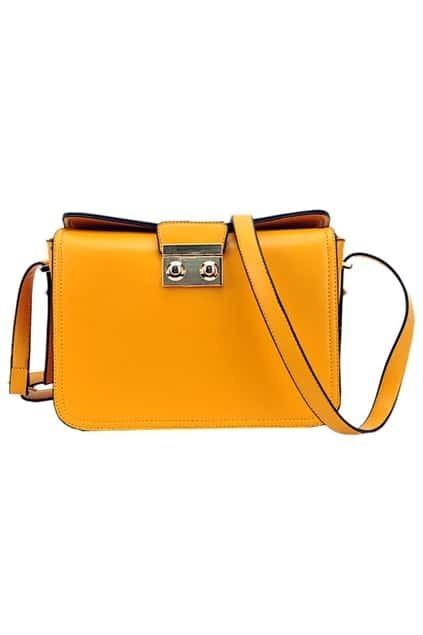 Lock Yellow Strip Bag