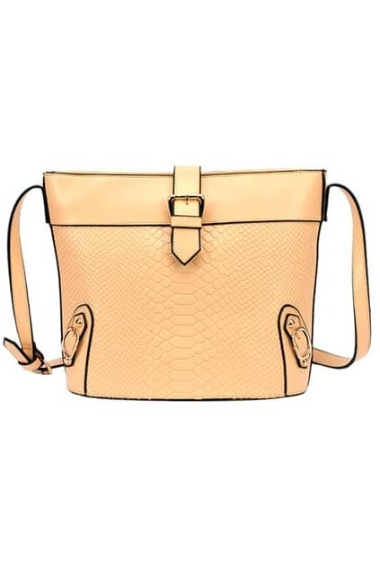 Retro Styke Snakeskin Cream Shoulder Bag