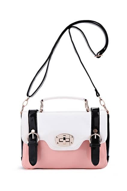 Montage White Upper Pink Satchel