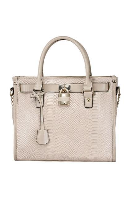 Retro Platinum Cream-coloured Bag