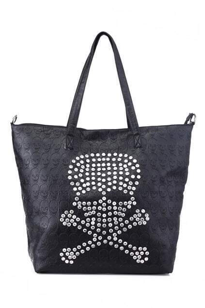 Crystal Skull Black Bag