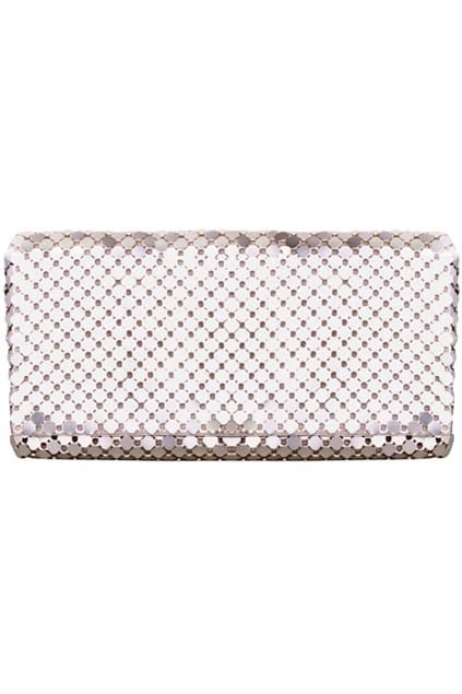 All-over Sequin Gold-tone Clutch