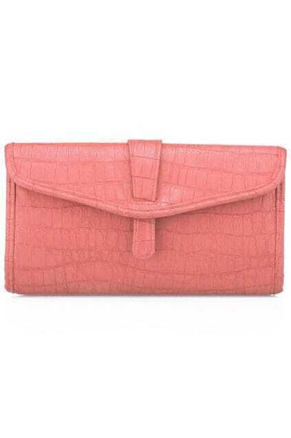Textured Design Pink Clutch