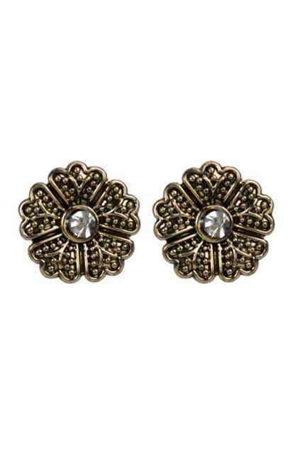 Round Dots Flower Earrings