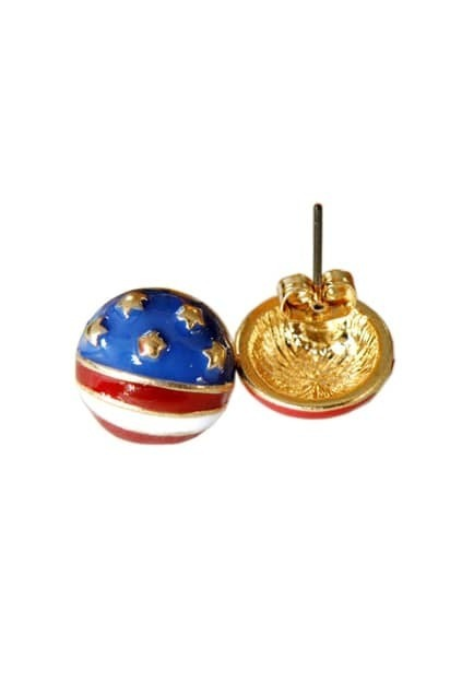 Flag Pattern Earrings