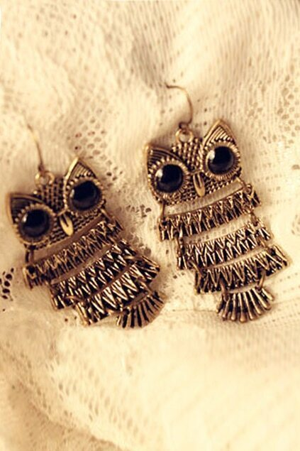 Retro Styal Owl Earrings