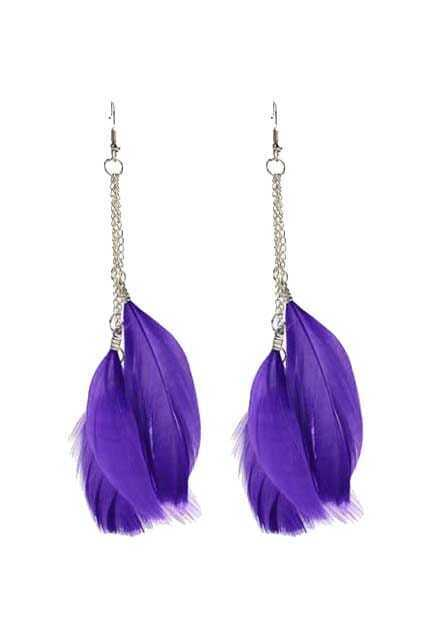 Feathers Pendant Earrings