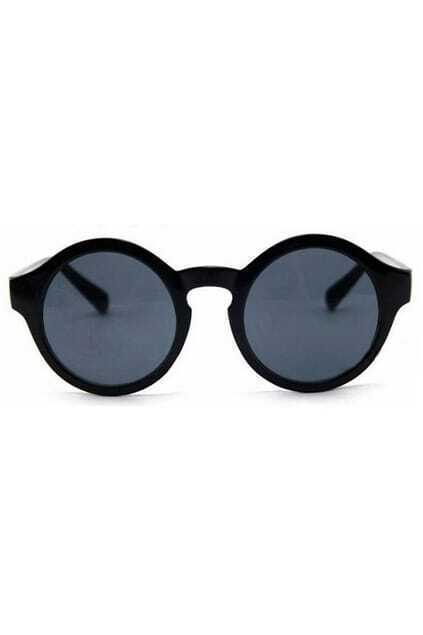 Circular Frame Retro Black Sunglasses