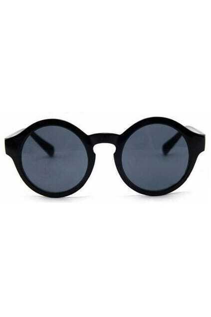 Circular Frame Retro Black Sunglasses