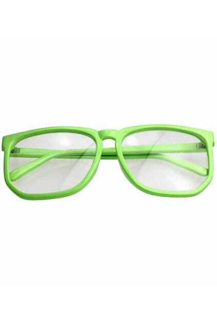 Oversized Green Glasses