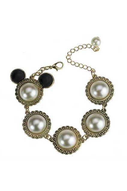 Mitch Head Pearls Bracelet