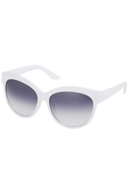 Classic Rounded White Sunglasses