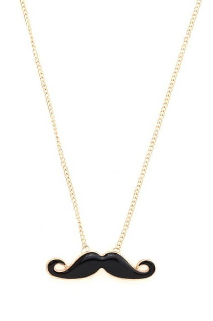 Mustache Longline Necklace