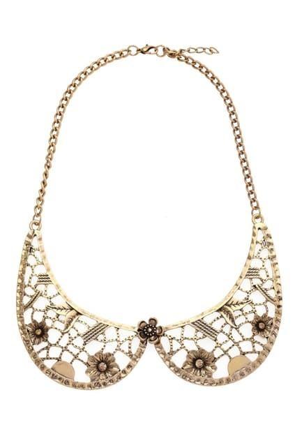 Gold-tone Flower Detachable Collar